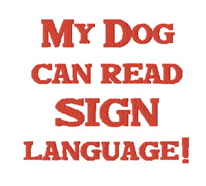 rally obedience sign language 2