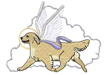 golden retriever angel