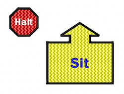 rally obedience design sit