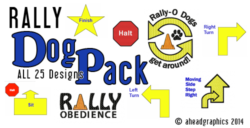 rally obedience designs