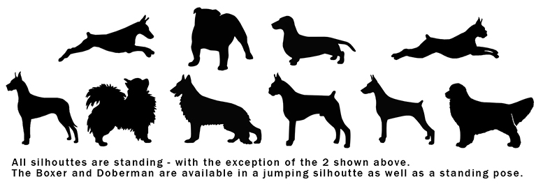dog silhouettes in embroidery designs